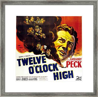 Twelve Oclock High, Right Gregory Peck Framed Print by Everett
