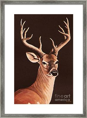 Framed Print featuring the painting Twelve Pointer by DiDi Higginbotham