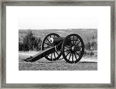 Twelve Pound Napoleon Overlooking Battleground - Perryville Ky Framed Print