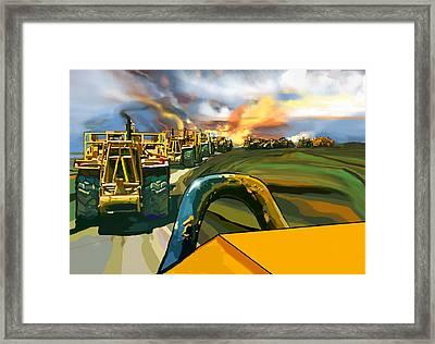 Twelve Scrapers Framed Print by Brad Burns