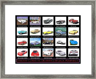 Twenty Corvettes Framed Print by Jack Pumphrey