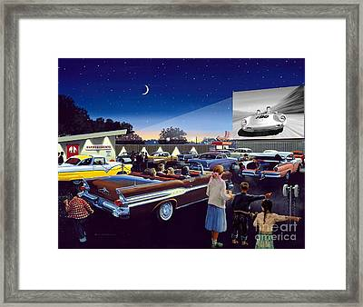 Twenty Minutes To Show Time Framed Print by Michael Swanson