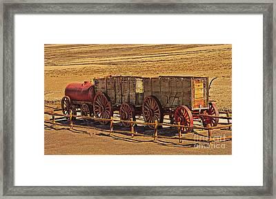 Twenty-mule Team In Sepia Framed Print by Robert Bales