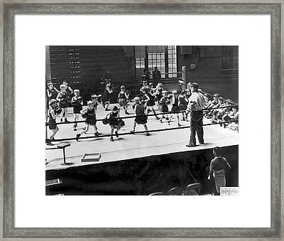 Twenty One Junior Dempseys Framed Print by Underwood Archives