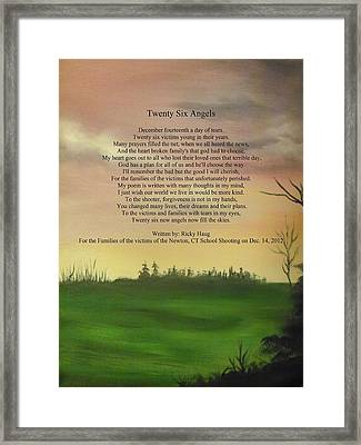 Twenty Six Angels Framed Print by Ricky Haug