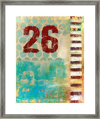 Twenty-six Stripes Framed Print by Carol Leigh