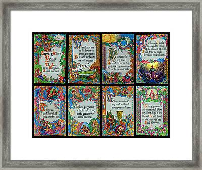 Twenty Third Psalm Collage 2 Framed Print