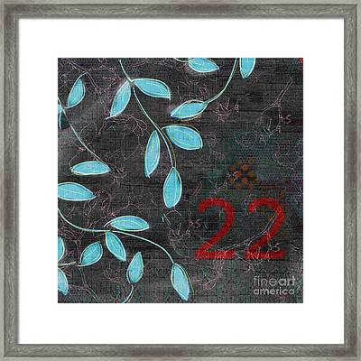 Twenty-two - 19n Framed Print by Variance Collections