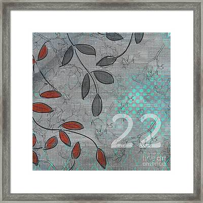 Twenty-two - 20b Framed Print