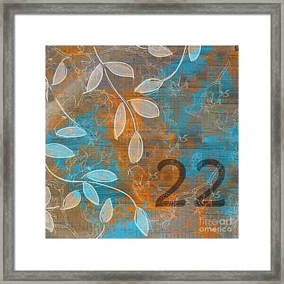 Twenty-two - Sp1251 Framed Print by Variance Collections