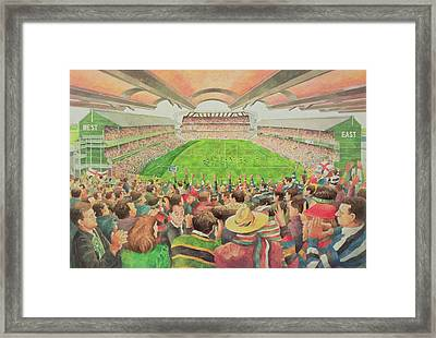 Twickenham The Pilkington Cup Final, 1992 Wc Framed Print by Gareth Lloyd Ball