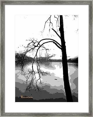 Twiggy Abstract Framed Print