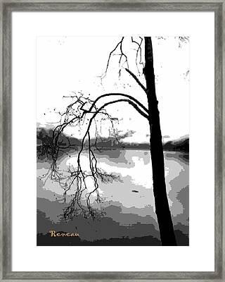 Twiggy Abstract Framed Print by Sadie Reneau