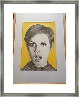 Twiggy Framed Print by Martin Burton