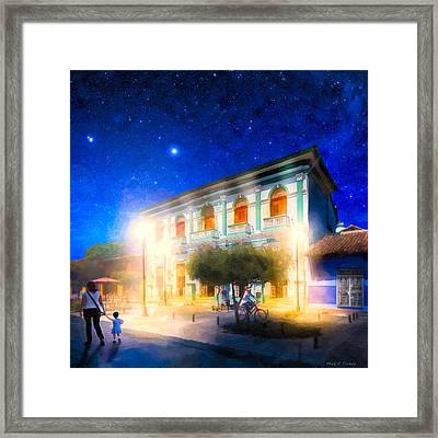 Twilight And The Streets Of Granada Framed Print by Mark E Tisdale