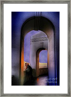 Twilight Arches Framed Print