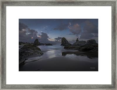 Twilight At Bandon Framed Print