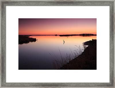 Twilight At Blackwater Wlr Framed Print