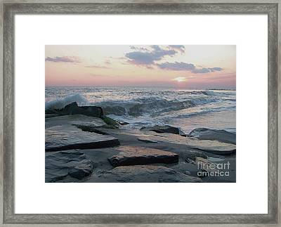 Twilight At Cape May In October Framed Print