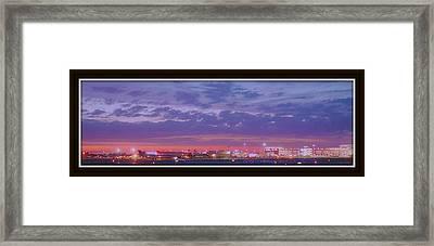 Twilight At Gerald R Ford International Airport Framed Print