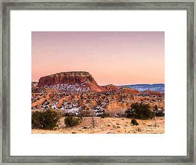 Twilight At Ghost Ranch In New Mexico Framed Print by Ellie Teramoto