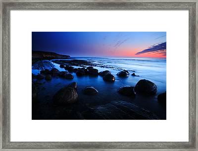 Twilight At Schooner Gulch Framed Print by Eric Foltz