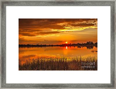 Twilight At The Best Framed Print by Robert Bales