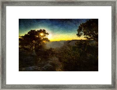 Twilight At The Canyon Framed Print by Ellen Heaverlo
