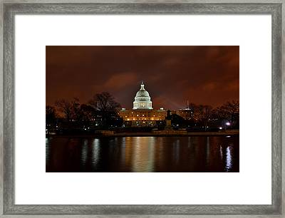 Twilight At The Capitol Framed Print