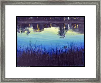 Twilight At The Creek Framed Print