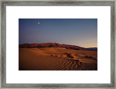 Twilight At The Dunes  Framed Print