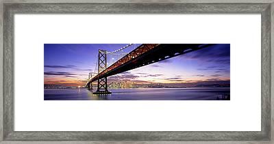 Twilight, Bay Bridge, San Francisco Framed Print by Panoramic Images