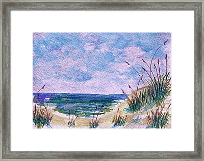 Twilight Beach Framed Print