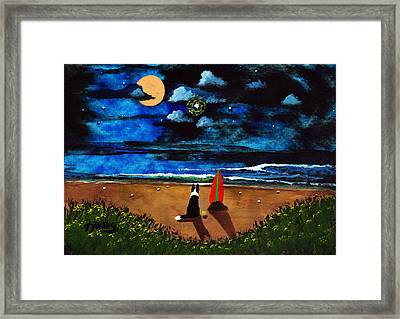Twilight Beach Framed Print by Todd Young