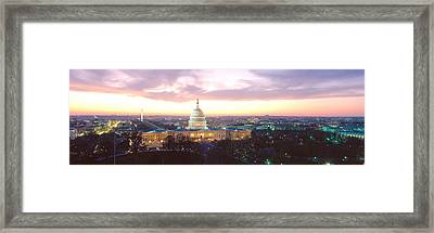 Twilight, Capitol Building, Washington Framed Print by Panoramic Images