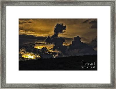 Twilight Clouds Framed Print by Christopher Purcell