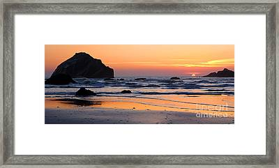 Twilight Coast Framed Print