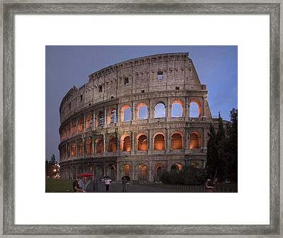 Twilight Colosseum Rome Italy Framed Print