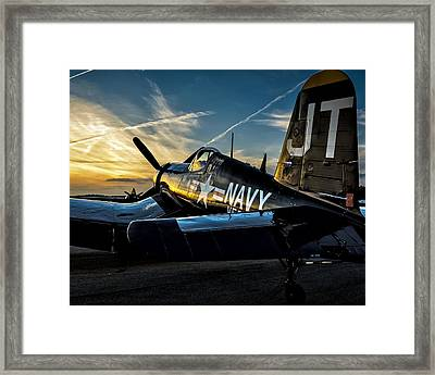Twilight Corsair Framed Print