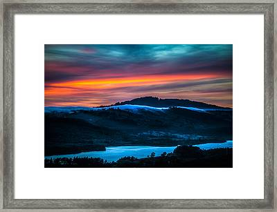 Twilight Crawling Fog Framed Print by Mike Lee