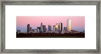 Twilight, Dallas, Texas, Usa Framed Print