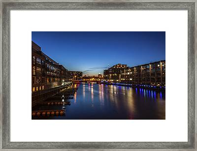 Twilight Docks Framed Print by CJ Schmit