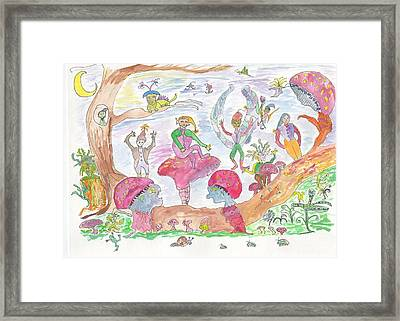 Framed Print featuring the painting Twilight Faery Glen by Helen Holden-Gladsky