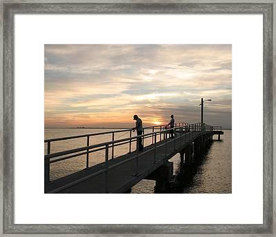 Twilight Fishing Framed Print