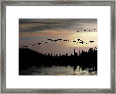 Twilight Glide Framed Print