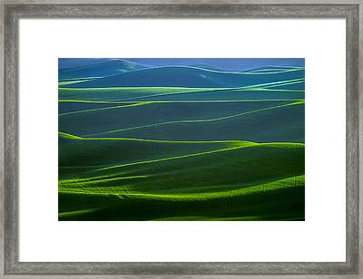 Twilight Hills Of The Palouse Framed Print