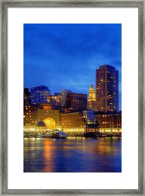 Twilight In Boston Framed Print