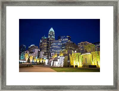 Twilight In Charlotte Framed Print by Serge Skiba
