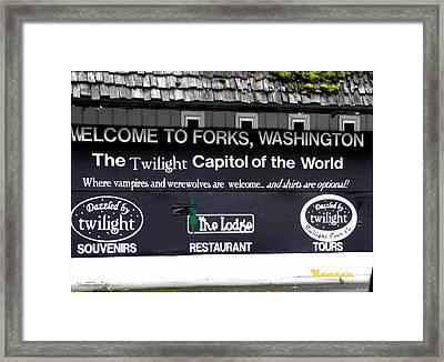 Twilight In Forks Wa 5 Framed Print
