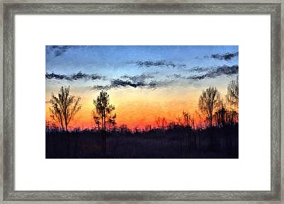 Twilight In Jackson Framed Print